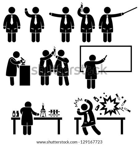 Scientist Professor Science Lab Teaching Writing