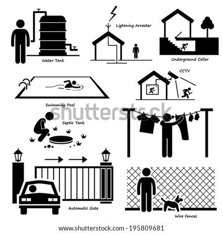 Royalty-free In Case of Flood Emergency Plan Stick