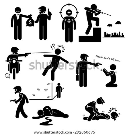 Riot Police Stick Figure Pictogram Icons Stock Photo