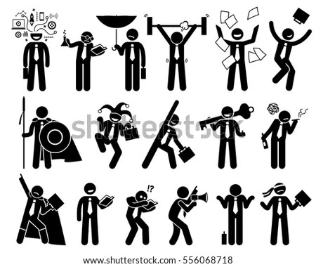 Royalty-free Stick Figure action poses set.… #486544999