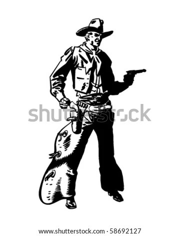 Royalty Free Stock Photos and Images: Cowboy Drawing