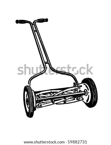 Lawn Mower clip art Free Vector / 4Vector
