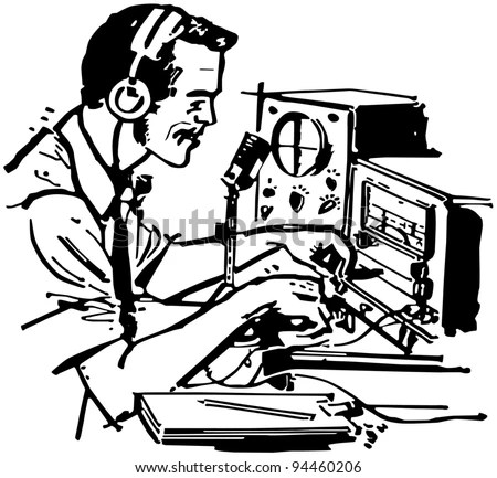 Royalty Free Stock Photos and Images: Ham Radio Operator
