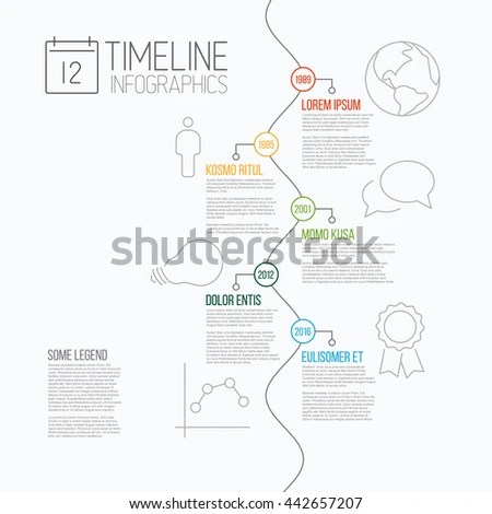 Vector Infographic Timeline Report Template With The