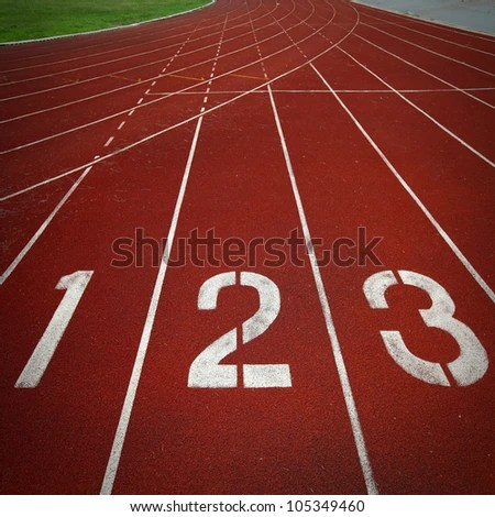 Athletics Track Lane Numbers Stock Photo 105349460 : Shutterstock