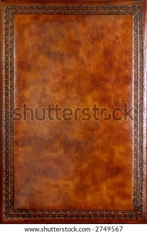 Brown Leather Book Cover With Decorative Pattern Stock Photo 2749567  Shutterstock