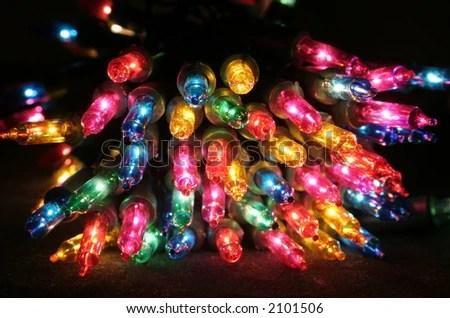 stock photo : colored christmas lights