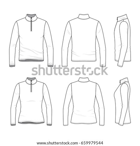 Clothing Pictograms, One Color Outline,… Stock Photo