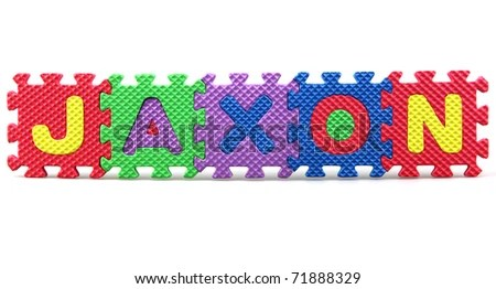 Most Popular Baby Names Jaxon Stock Photo 71888329