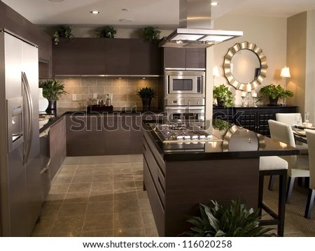 Ktichen Interior Design Architecture Stock Images,Photos of Living room, Bathroom,Kitchen,Bed room, Office, Interior photography. - stock photo