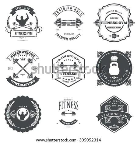 Vector set of vintage camping logos.… Stock Photo