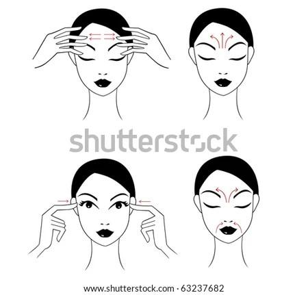 Face Massage Instructions Stock Photo 63237682 : Shutterstock