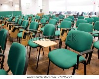 Chairs In A University Classroom Stock Photo 76095292 ...