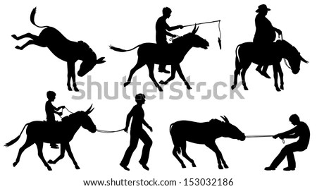 Cowboy Wild West Duel Bar Horse Stick… Stock Photo