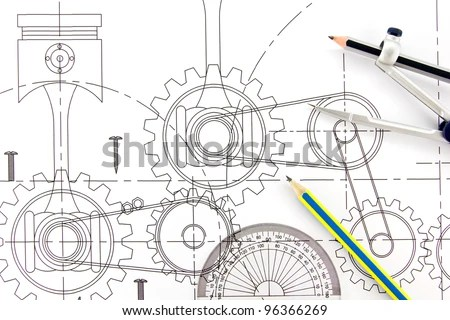 Mechanical Engineering Gears Drawings