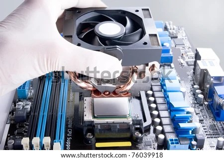 stock photo installing black cooler fan with copper tubes on computer processor 76039918 LIVE হার্ডওয়্যার টিউটোরিয়াল শিখুন  না দেখলে বিশাল মিস করবেন
