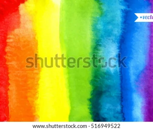 Abstract Painting Background Watercolor Rainbow Hand Drawn Paper Texture Vector Colorful
