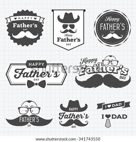 Set of retro Barber shop logo. Men's… Stock Photo