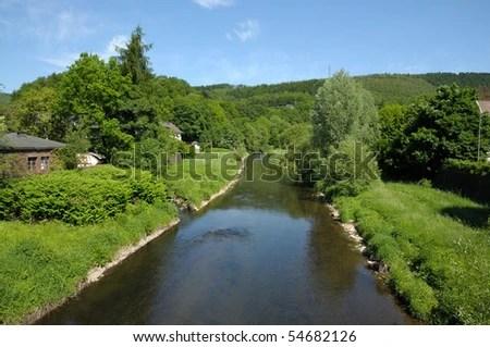 landscape with river siegen