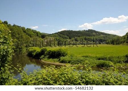 landscape with sieg river