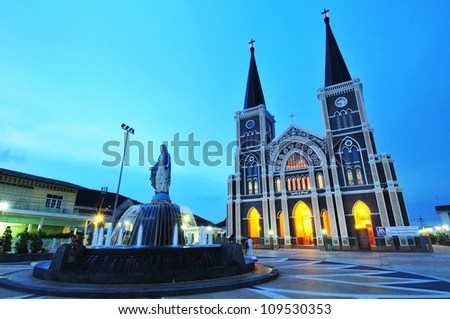 The cathedral of the immaculate conception, Chanthaburi, Thailand - stock photo