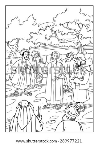 Jesus Sends Out 72 Coloring Page Coloring Pages
