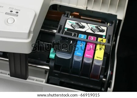 stock photo detail of computer printer ink cartridges with separate units in carrier 66919015 LIVE হার্ডওয়্যার টিউটোরিয়াল শিখুন  না দেখলে বিশাল মিস করবেন