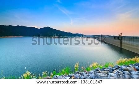 Prakarnchon Khun Dan Dam, Nakhon Nayok, Thailand - stock photo