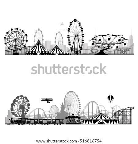 Vector illustration.Roller Coaster… Stock Photo 92124244