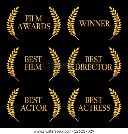 Film Awards Winners 2 - stock vector