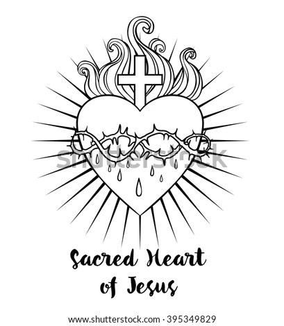 Vector Images, Illustrations and Cliparts: Sacred Heart of