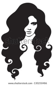 beautiful curly hair framed
