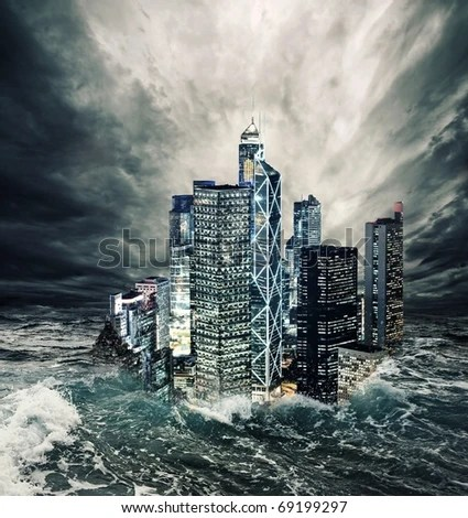 stock photo : The end of the world