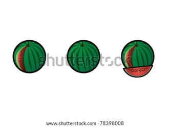 outline watermelon simple shutterstock vector lightbox save