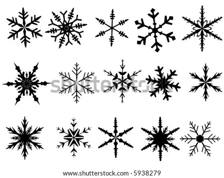Free Cat Coloring Pages: Snowflake Offset Points Snowflakes