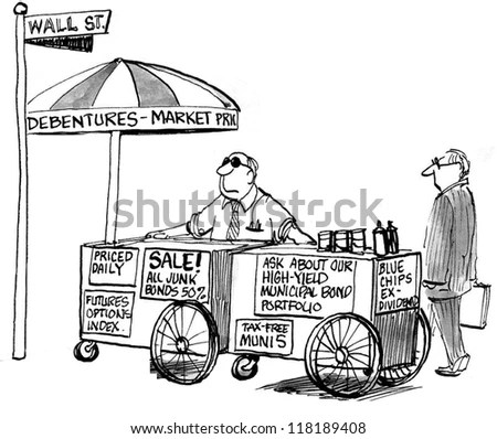 Vector drawing of ice cream cart with… Stock Photo