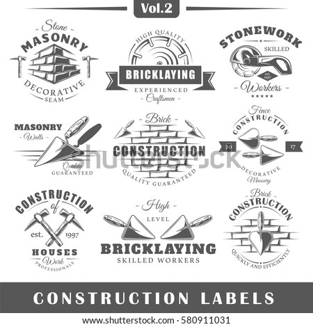 Royalty-free Set of vintage labels carpentry.… #281150831
