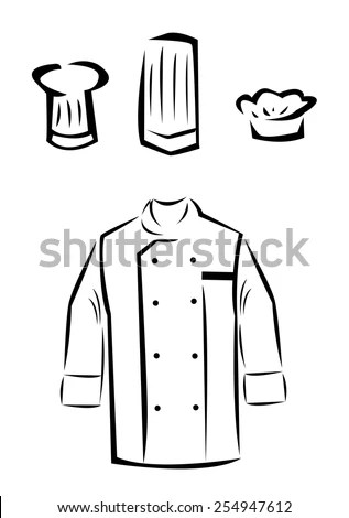 Uniform Of A Master Chef Cook Or Culinary Student. Sign Or