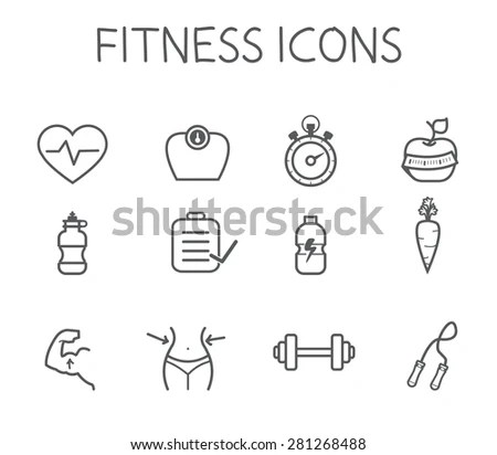 Fitness and Health icons with White… Stock Photo 132000299
