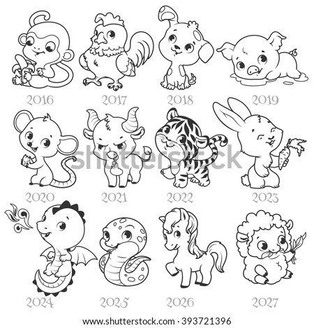 Royalty-free Vector illustration of Animals cartoon