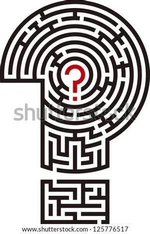 Question Mark Maze Stock Vector Illustration 125776517