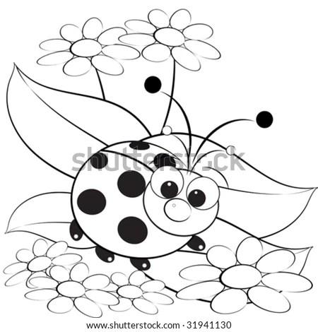 Mandala Coloring Pages: Kids Illustration Ladybug