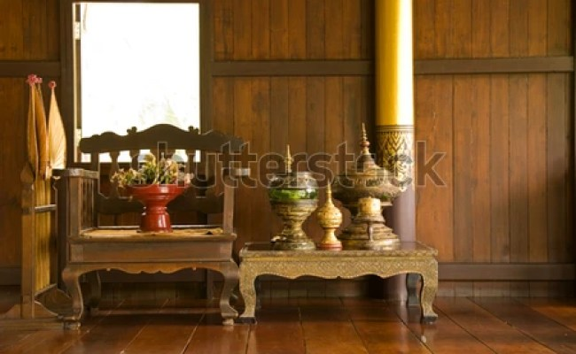 Antique Furniture The Northern Part Of Thailand Stock