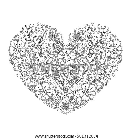 Abstract vector heart on a transparent… Stock Photo