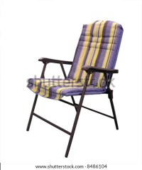Folding Padded Patio Chair Stock Photo 8486104 : Shutterstock