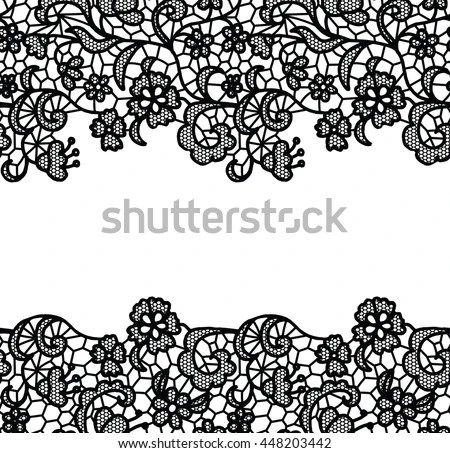 Royalty Free Stock Photos and Images: Seamless lace border