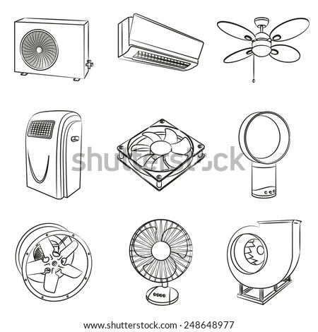 Exhaust Fan Illustration Floor Fans Wiring Diagram ~ Odicis