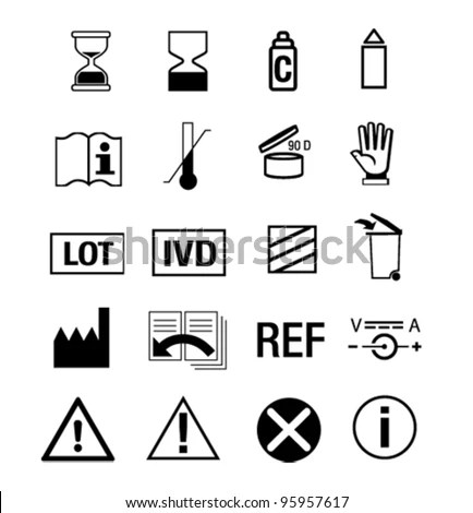 Icon Set For Medical Manual Stock Vector Illustration