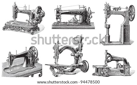 Old Sewing Machine Collection / Vintage Illustrations From
