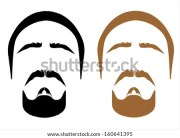 men's hair and facial graphic